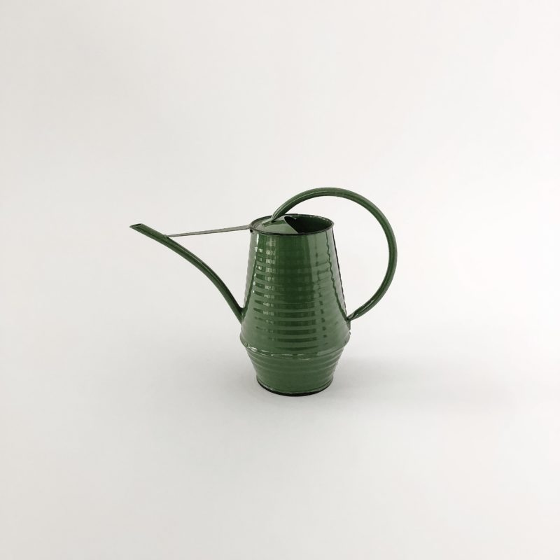 small green watering can