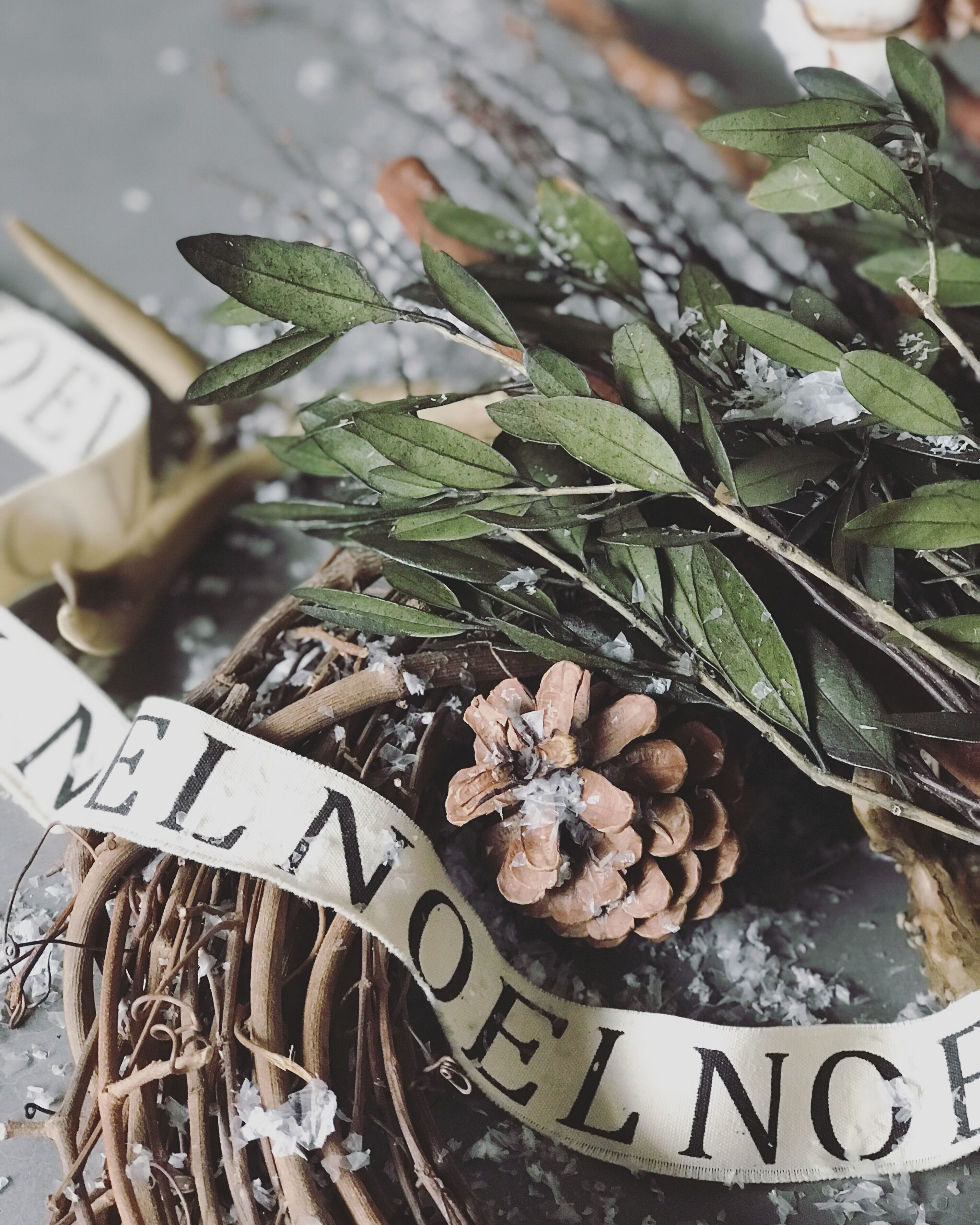Modern Wreath with Pine Cones